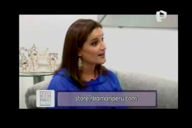 """Luciana de la Fuente en el programa """"Bodas y Estilo"""" de Panamericana Televisión"""