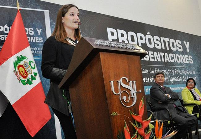 """""""Este es un hito importante en la historia de la USIL"""" señaló Luciana de la Fuente"""