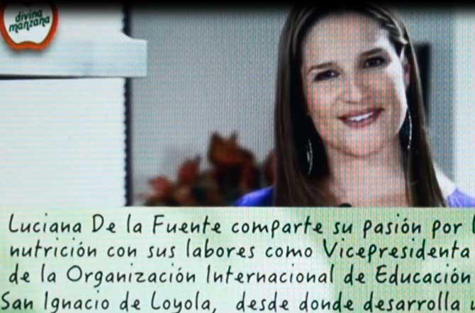 Luciana de la Fuente presentó Divina Manzana, programa de consejos sobre nutrición