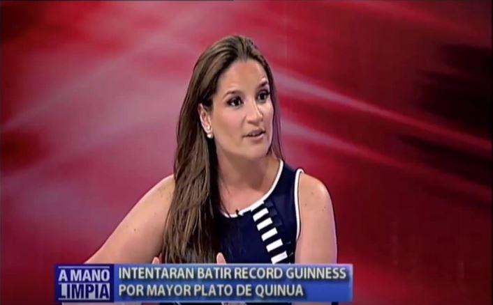 Luciana de la Fuente destacó las bondades nutritivas de la quinua en Miami