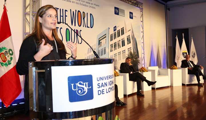 Luciana de la Fuente anunció lanzamiento de nueva Facultad de Medicina de la USIL
