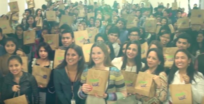 Luciana de la Fuente presentó Modo USIL a alumnos del Instituto de Emprendedores